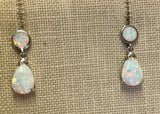 Opal Drop Silver Earring
