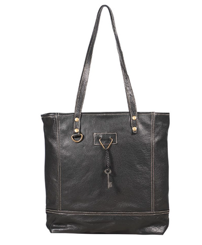 Slim Leather Tote Bag