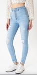Super High Rise Button Fly Skinny Jean