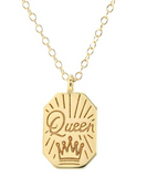 Queen Dog Tag Necklace
