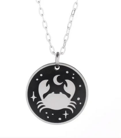 Crab Nebula Silver Necklace
