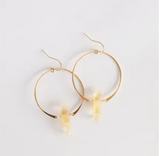 Gold Hoop with Crystal Earring