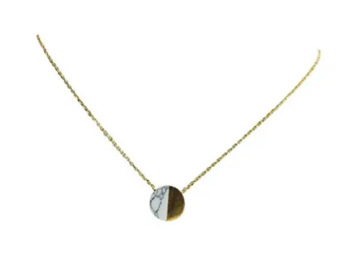 Howlite Gold Plated Necklace
