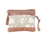 Green N Tan Pouch