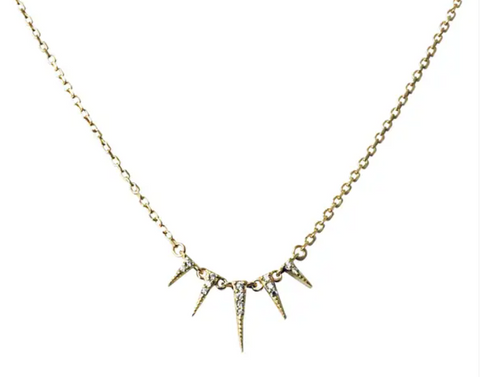 CZ Spike Necklace