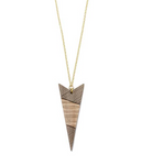 Arrow Long Wood Necklace