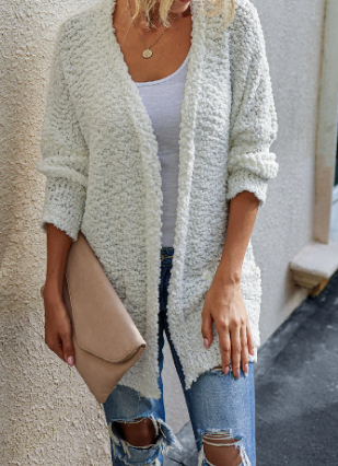 White Fluffy Sweater