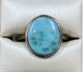 Larimar Oval Silver Ring