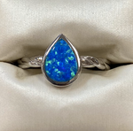 Blue Opal Sterling Ring