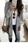 Plaid Pattern Open Front Knitted Cardigan Sweater