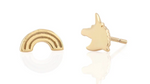 Unicorn Rainbow Stud Earring