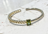 2Faced Peridot Zircon Cuff