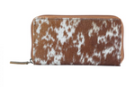 Cowhide Leather Zip Wallets