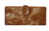 Cowhide Snap Checkbook Wallet