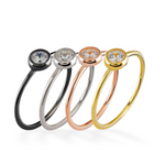 Glint 4MM CZ 24K Yellow Gold Ring