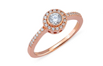 Entourage CZ 24K Rose Gold Ring
