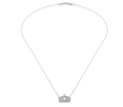 Crown Mini CZ 24K Gold Necklace