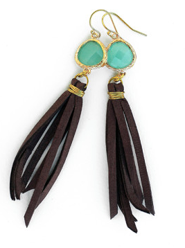 Gold Wrapped Fringe Earring
