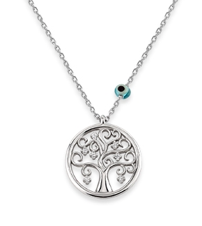 Tree of Life Mini CZ 24K Gold Necklace