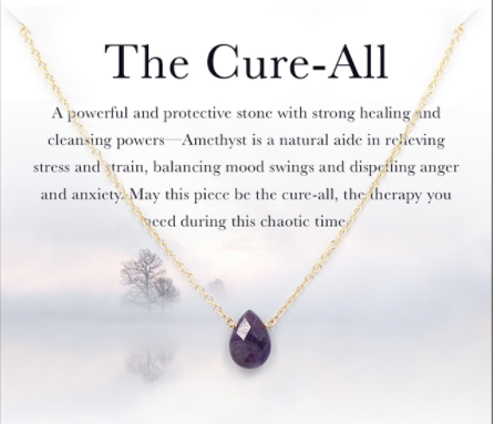 The Cure All Amethyst Silver Gold Necklace