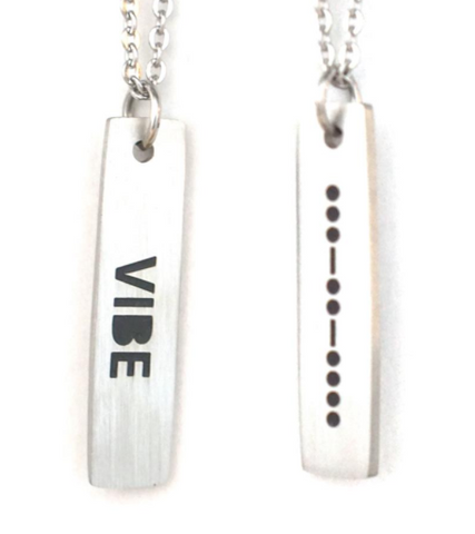 Vibe Morse Code Necklace