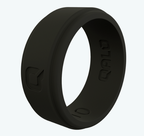 Qalo Black Flat Step Q2X Ring