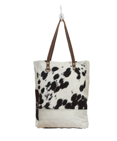 Black and White Impression Hair-on Bag