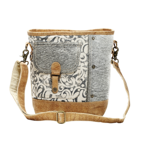Hairon Flap Pocket Shoulder Bag