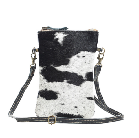 Black & White Crossbody Bag