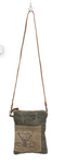 Vintage Leafed Cross Body Bag