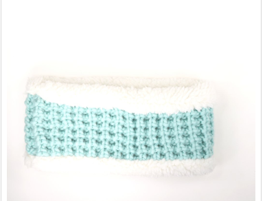 CC Chunky Knit Sherpa Lined Head Band