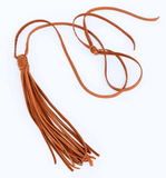 Leather Tassel Crystal Necklace