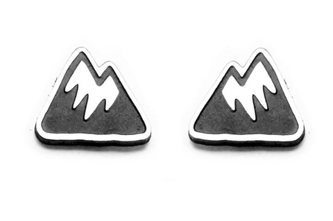 Mountain Silver Earrings