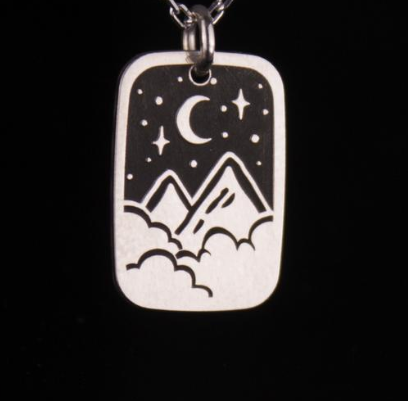 A Night in the Stars Silver Necklace