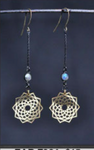 Mandala Labradorite Mixed Metal Earrings