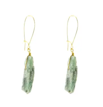 Green Kyanite Earrings