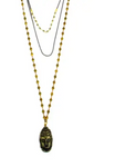 Pyrite Buddha Drape Necklace