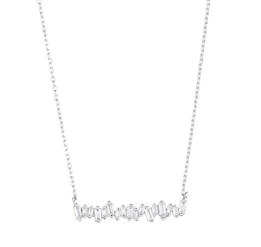 Baguette CZ Bar Necklace