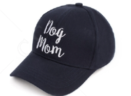 Dog Mom Bun Baseball Cap