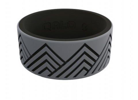 Mens Gray Mountain Silicone Ring