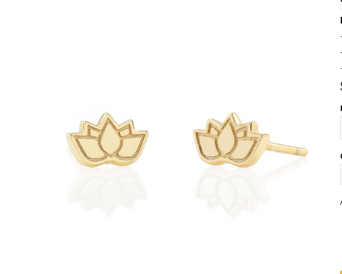 Lotus Flower Stud Earring