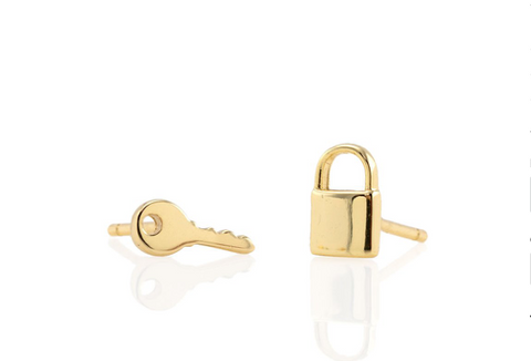 Lock and Key Earring