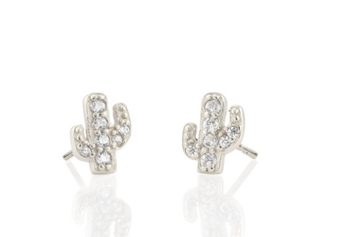 Cactus Pave Stud Earring