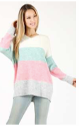 Pink Mint Combo Sweater