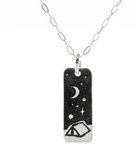 Night Outdoors Silver Necklace
