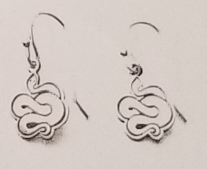 Serpent Silver Earrings