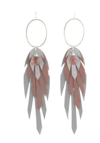 Yaro Pluma Leather Earring