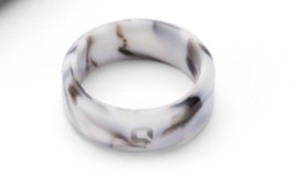 Qalo White Marble Ring