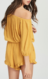 Mustard Off Shoulder Romper
