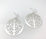 Silver Circle Alhambra Earring